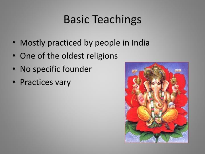 Basic teachings