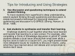 tips for introducing and using strategies1