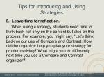 tips for introducing and using strategies2