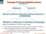 example of b tree deletion cont