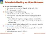 extendable hashing vs other schemes