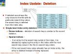 index update deletion