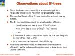 observations about b trees