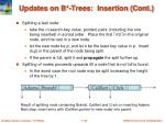 updates on b trees insertion cont