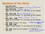 sections of the story