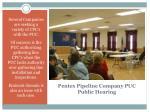pentex pipeline company puc public hearing