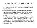 a revolution in social finance