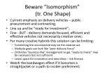 beware isomorphism tr one shape