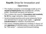 fourth drive for innovation and openness