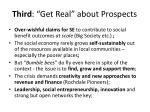 third get real about prospects