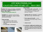 cft solutions llc uaa s second start up may 2013