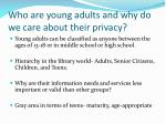 who are young adults and why do we care about their privacy