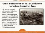 great boston fire of 1872 consumes horseless industrial area