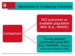 approaches to comparing outcomes
