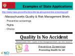 examples of state applications