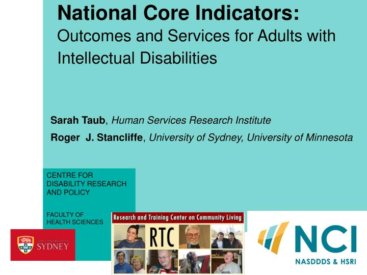 national core indicators outcomes and services for adults with intellectual disabilities n.