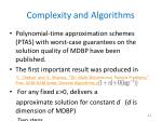 complexity and algorithms1