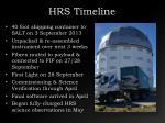 hrs timeline