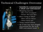 technical challenges overcome