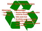 matter recycling societies