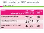 q3 learning two oop languages in one course