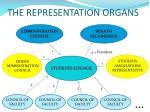 the representation organs