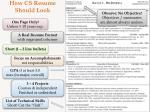 how cs resume should look