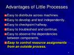 advantages of little processes