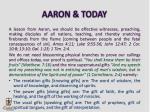 aaron today