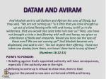 datam and aviram