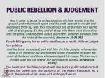 public rebellion judgement