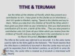 tithe terumah