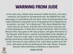 warning from jude