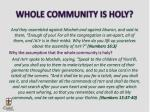 whole community is holy