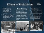 effects of prohibition