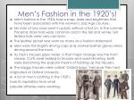 men s fashion in the 1920 s