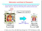 motivation and goal of research