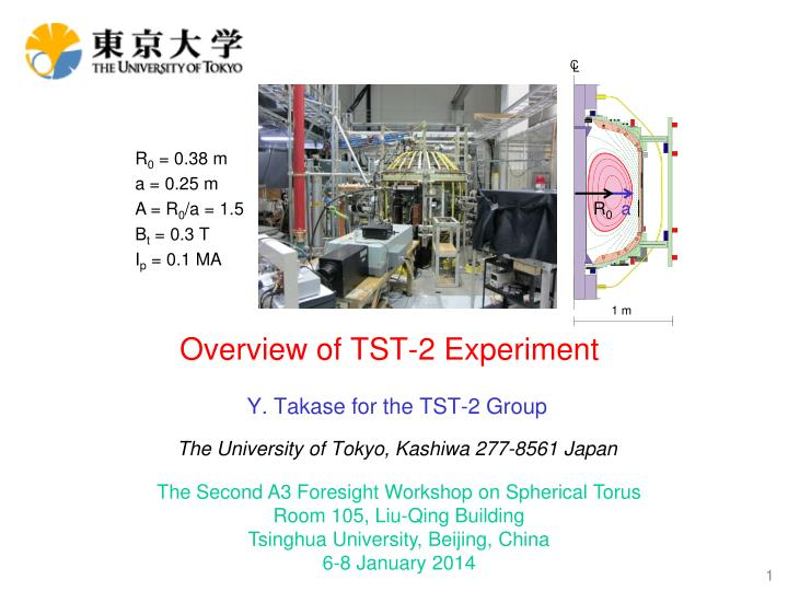 overview of tst 2 e xperiment n.