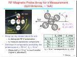 rf magnetic probe array for k measurement grill antenna 1ka