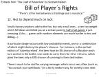 bill of player s rights there s a fine line between a challenge and a nuisance10