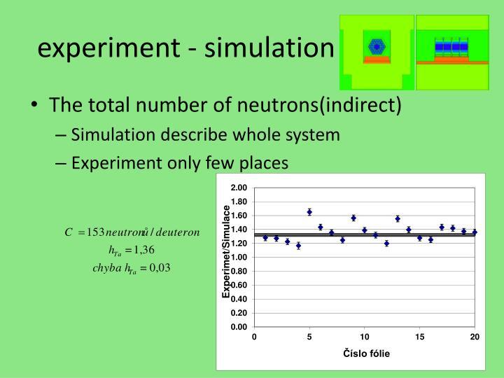 experiment - simulation