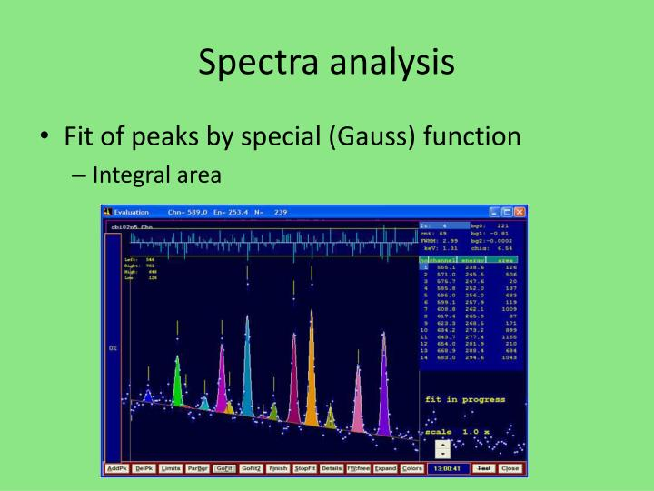 Spectra analysis