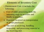 elements of inventory cost