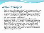 active transport