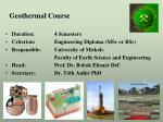 geothermal course
