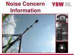 noise concern information