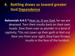 battling draws us toward greater god dependence