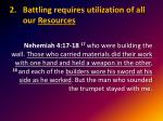 battling requires utilization of all our resources1