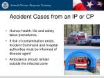 accident cases from an ip or cp