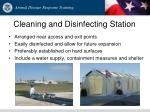 cleaning and disinfecting station